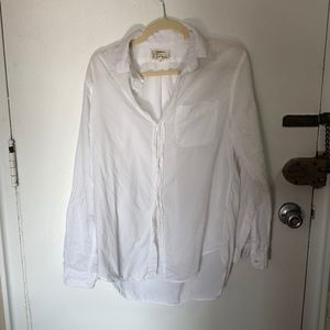 Current Elliot oversized white button down